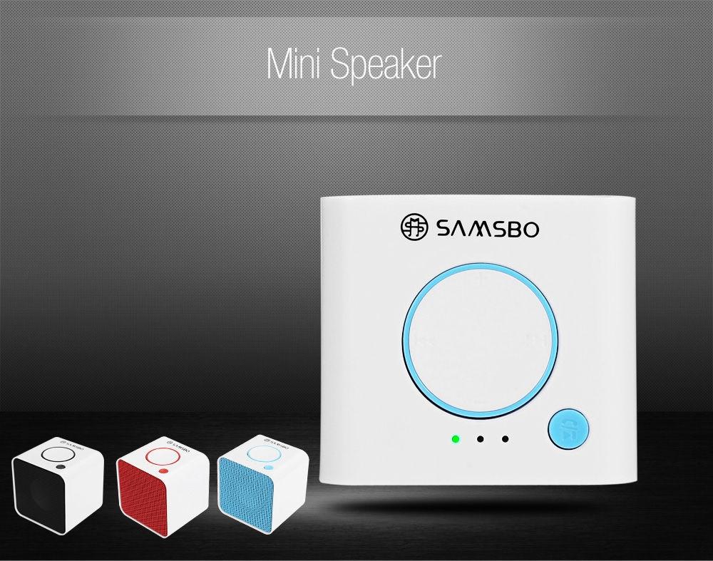 SAMSBO S168 Ultra Portable Wireless Bluetooth Square Mini Speaker