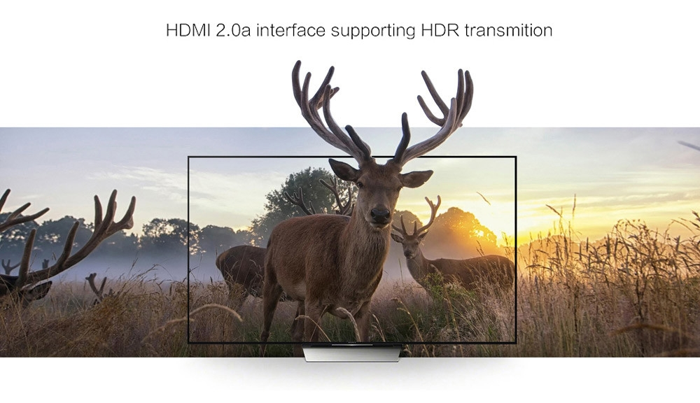 Zidoo X9S TV Box Quad-core Cortex-A53 CPU 64bit Android 6.0 System