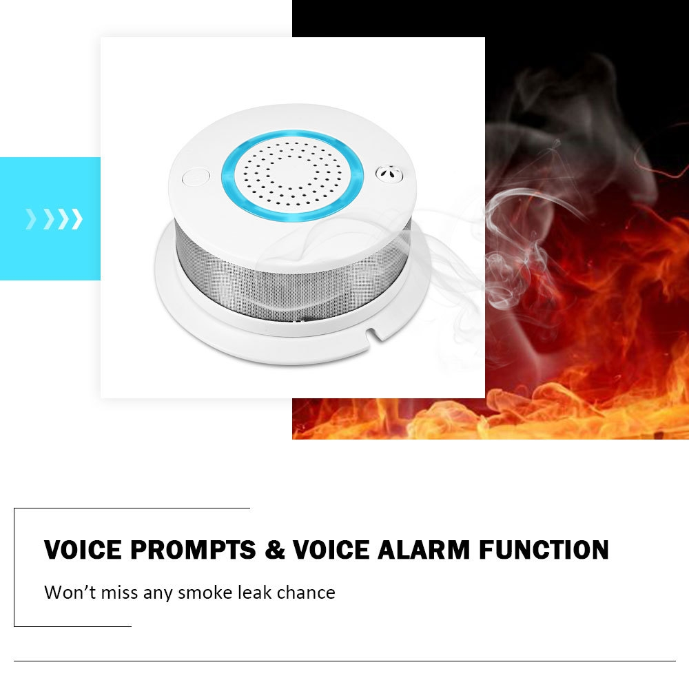 PA - 438W WiFi Wireless 2 in 1 Smoke and Temperature Alarm Detector with Battery Backup