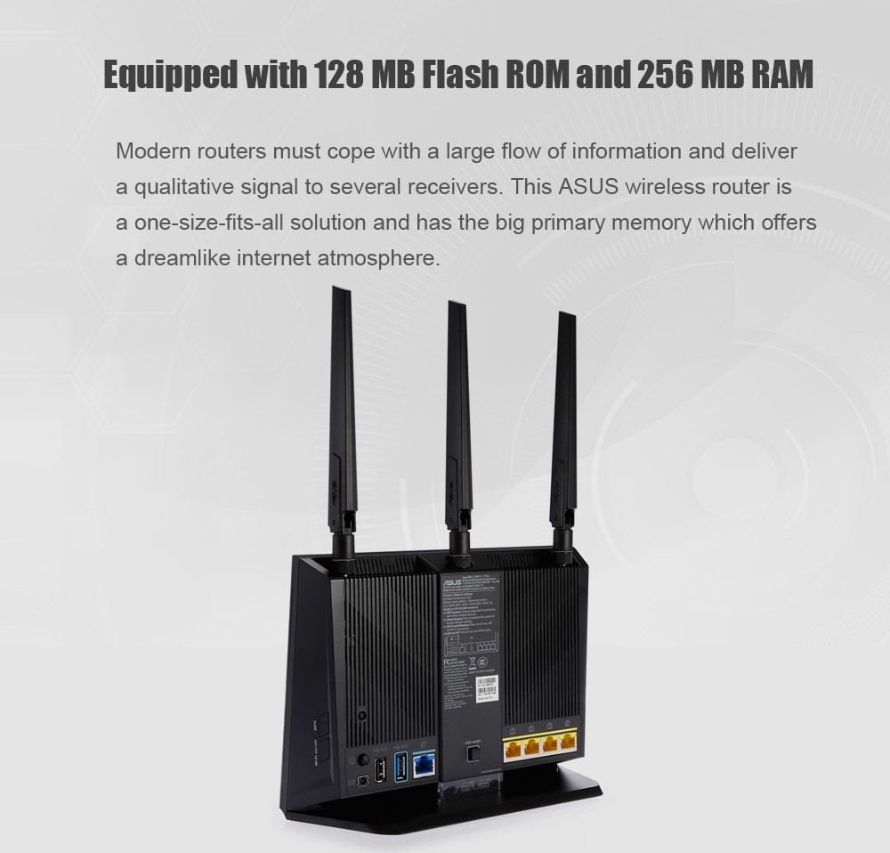 ASUS RT - AC1900P 1900Mbps Dual-band Wireless Router