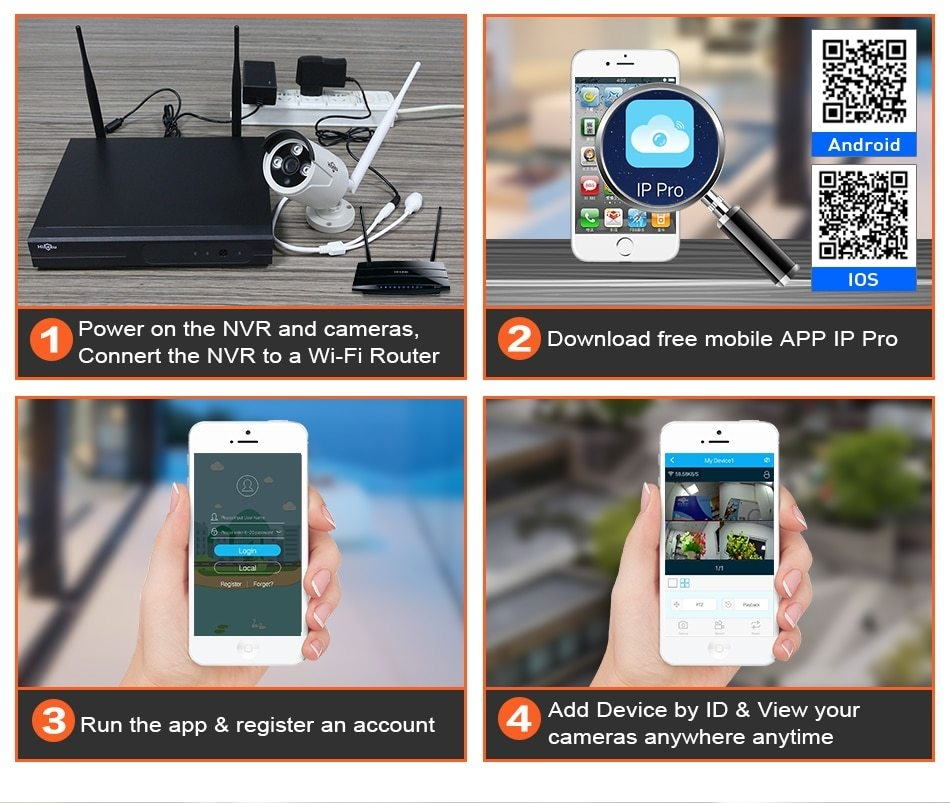 Generic 8CH Wireless CCTV System 1080P 1TB HDD 2MP NVR IP IR-CUT