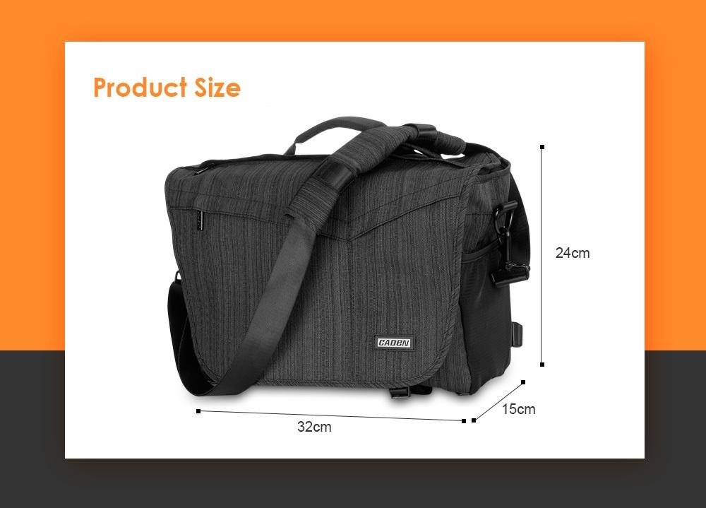 Caden K11 - S Nylon Camera Messenger Bag with Removable Insert for SLR / DSLR