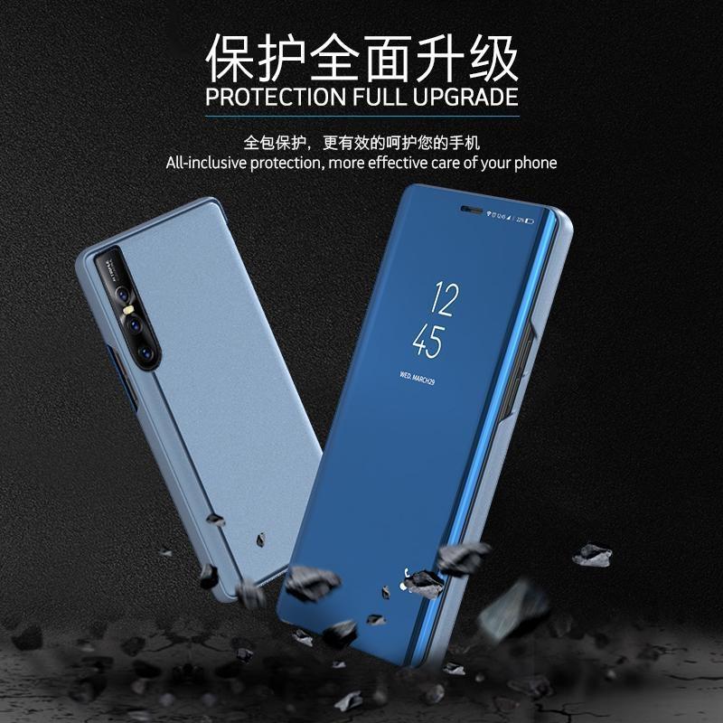 For VIVO V15 Pro Luxury Smart Plating Mirror View Stand Flip Case For VIVO  V15 Pro Full Cover Phone Bag 6 39inch