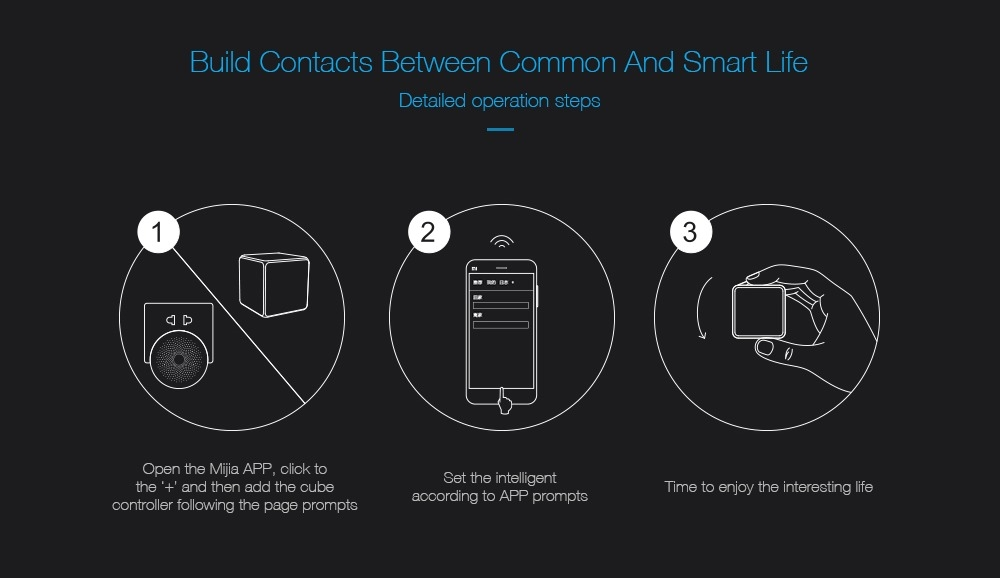 AQara Cube Smart Home Controller 6 Actions Operation for Smart Home Device