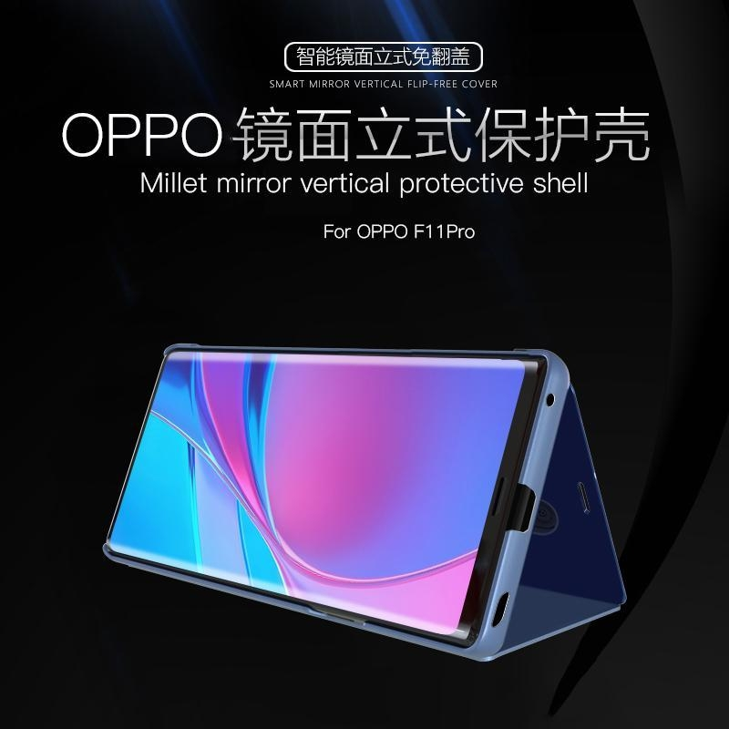 Generic For OPPO Reno Luxury Smart Plating Mirror View Stand