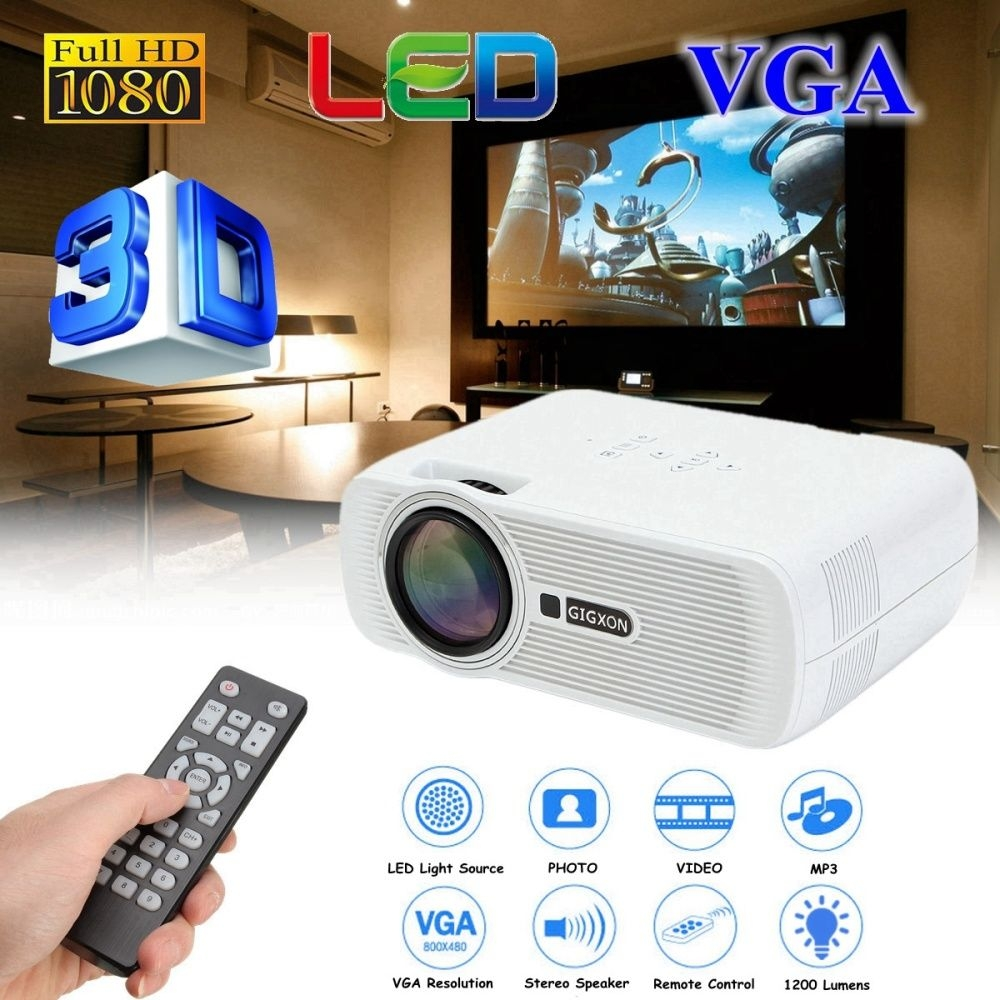Buy Generic Hd 1080p 4k Projector 1200 Lumens Home Theater Cinema Wiring A Projection Tv Led Mini Makes You Feel Like Bringing Back Movie Large Screen Experience Relax Your Eyes From