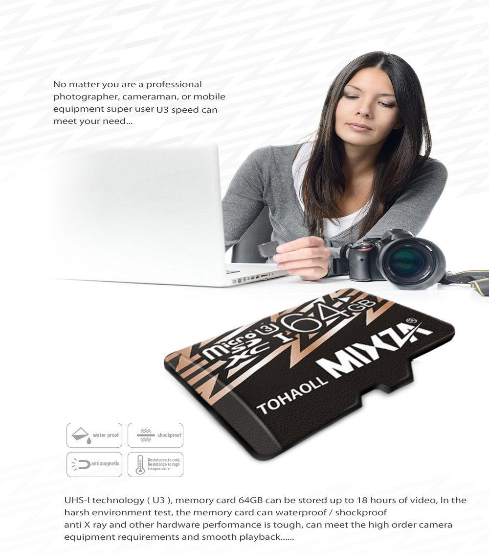 MIXZA TOHAOLL U3 Micro SD Card Memory Cards Data Storage Gadget