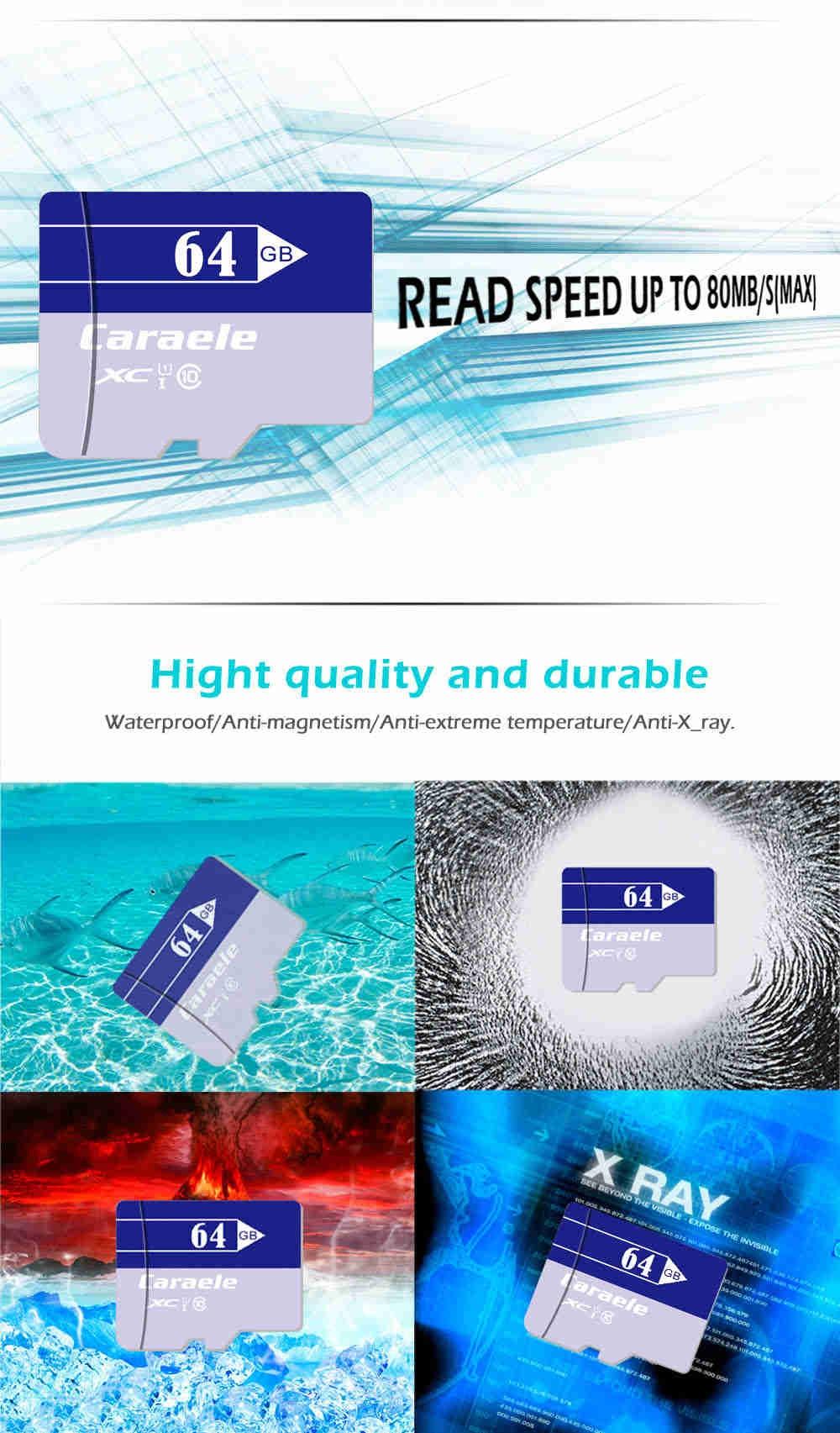 Caraele Multi-storage TF / Micro SD Memory Card XC Class 10 UHS-I