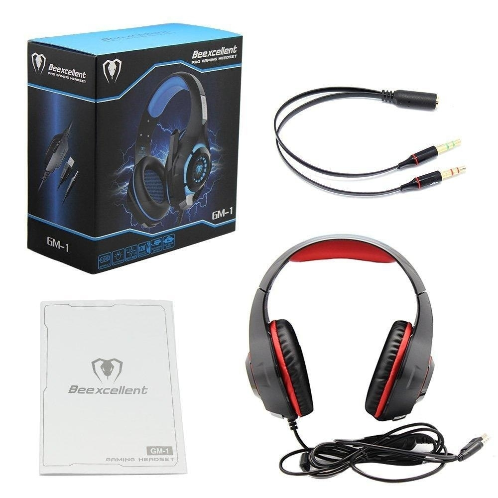 Generic GM-1 3 5mm Gaming Headset LED Light Over-Ear Headphones With