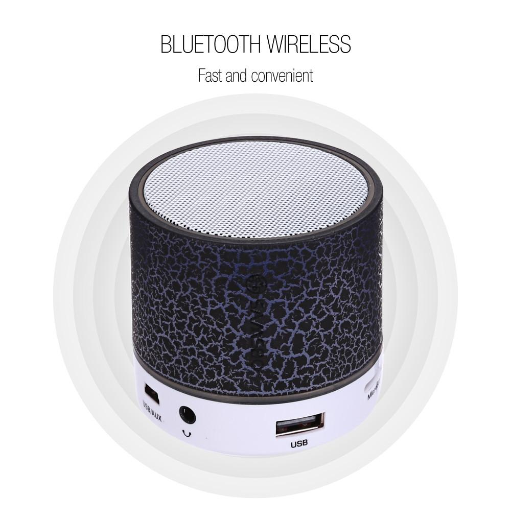 SAMSBO S8 Ultra Portable Wireless Bluetooth Round Mini Speaker