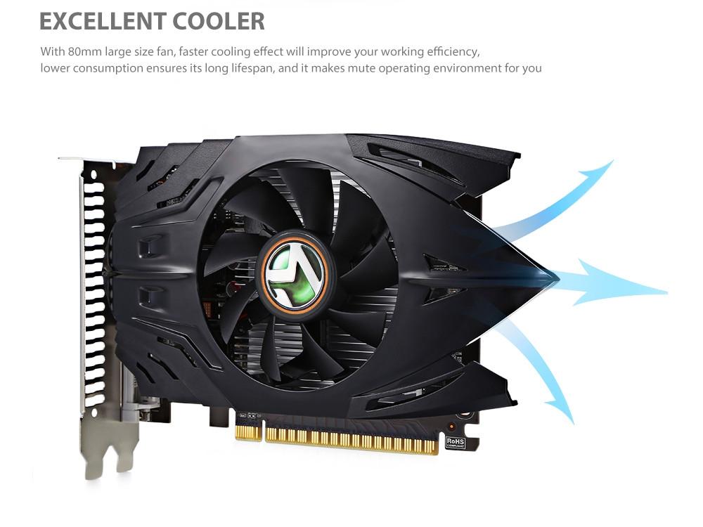 MAXSUN MS - GT710 Graphics Card 1GB 64bit DDR3 PCI-E 2.0 HDMI / VGA / DVI 192 CUDR Core 6000MHz Support 2560 x 1600