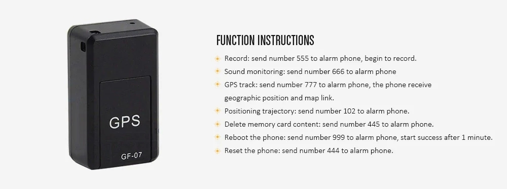 GF07 Magnetic Mini GPS Real Time Tracking Locator