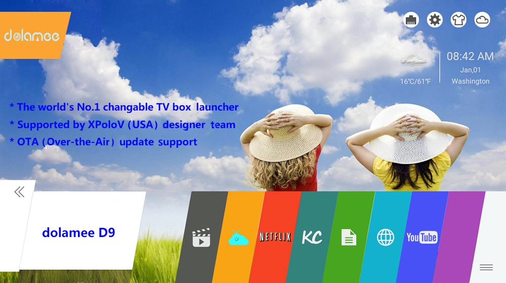 dolamee D9 4K x 2K TV Box with Amlogic S912 Octa-core CPU Android 6.0 with KODI 16.1 64bit