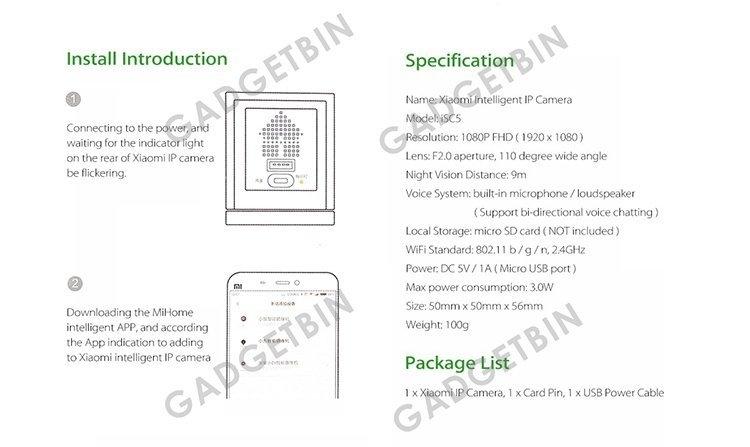 Generic Xiaomi XiaoFang Mijia Xiao Fang 1S Night Vision WiFi