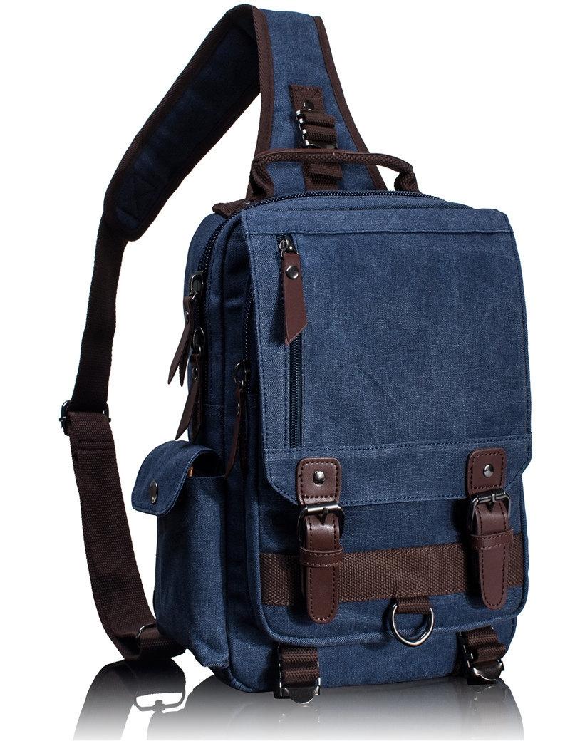 d9420778df0 Generic Tourya Canvas Crossbody Bags for Men Women Retro Leather ...