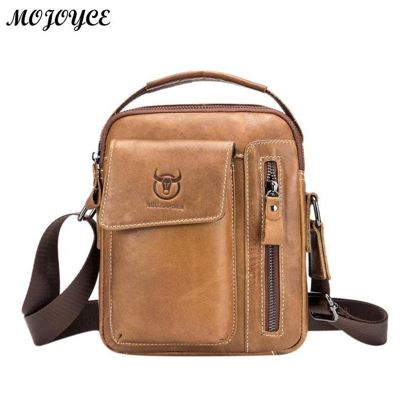 a00ba6d10e Generic BULLCAPTAIN Brand Designer Men's Messenger Bags Leather ...
