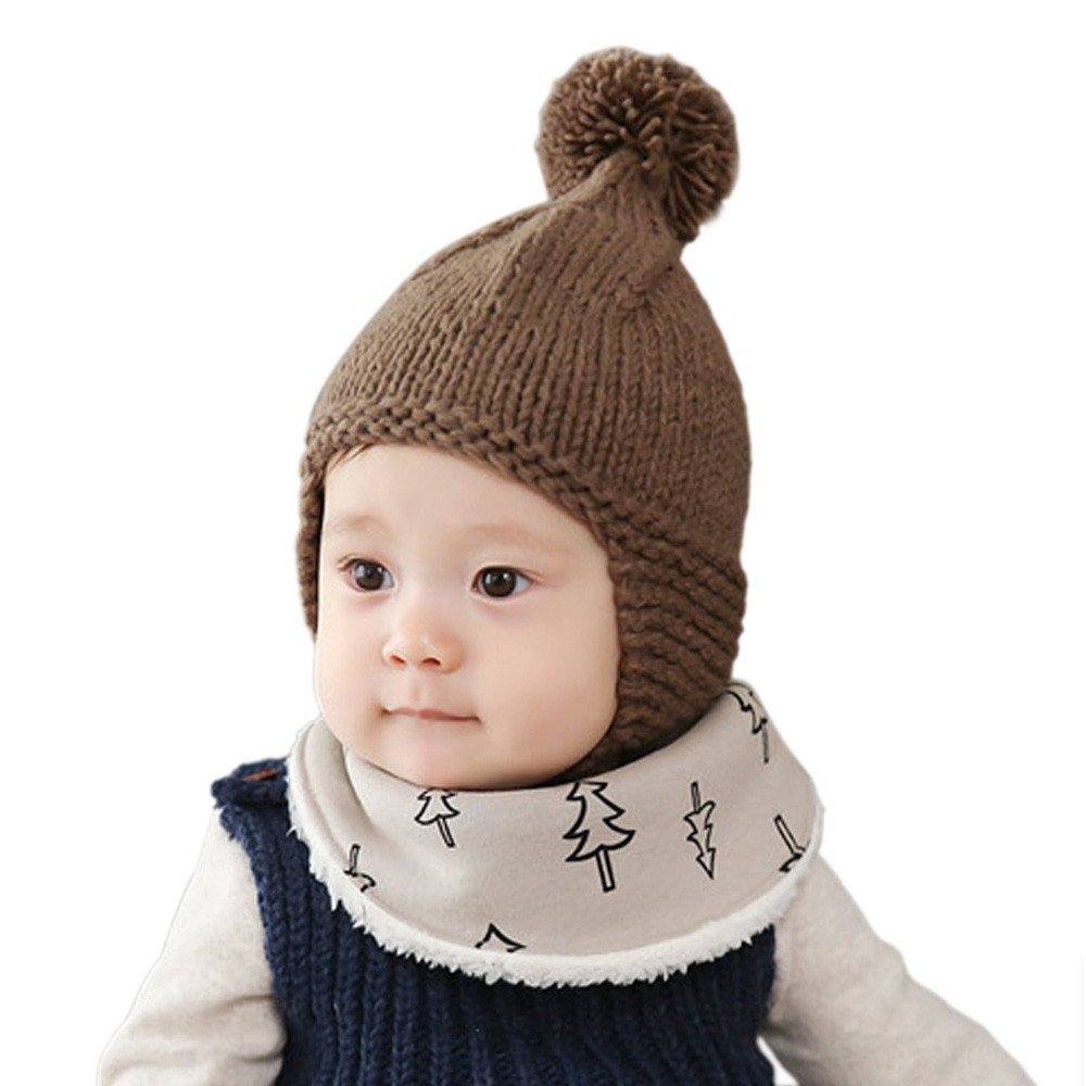 f41e4e24d95 Baby Toddler Girl Boy Elasticity Hairball Knitting Beanie Cap Warm Hat  (without retail package) image image image image