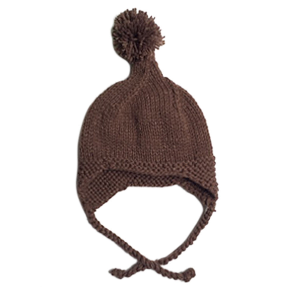 1c42f4a2ca5 Baby Toddler Girl Boy Elasticity Hairball Knitting Beanie Cap Warm Hat  (without retail package) image image