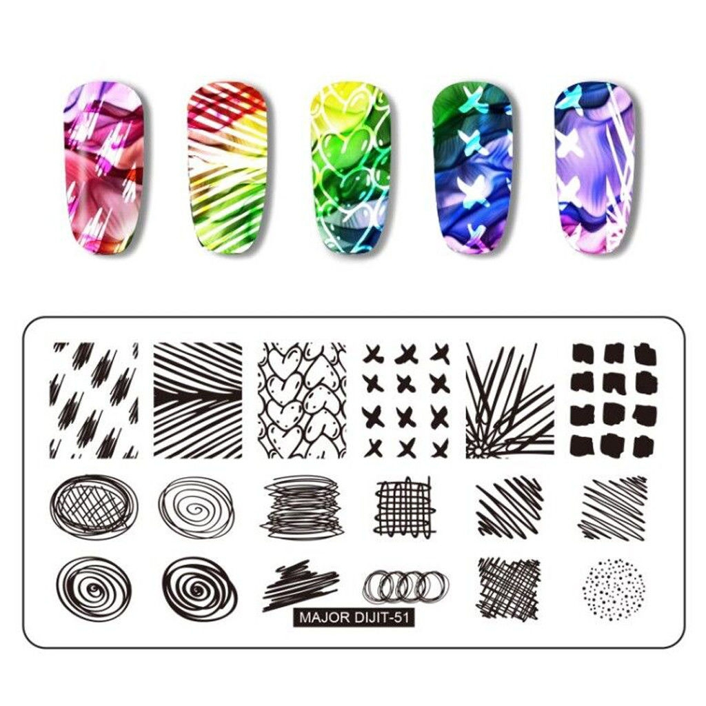 Generic Splice Image Plate Nail Art Design Stamping Kits Manicure ...