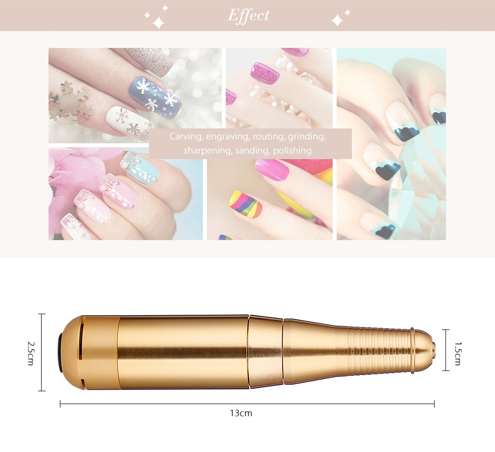 Electric Nail Manicure Pedicure Tools Files Polisher Grinding Glazing Machine