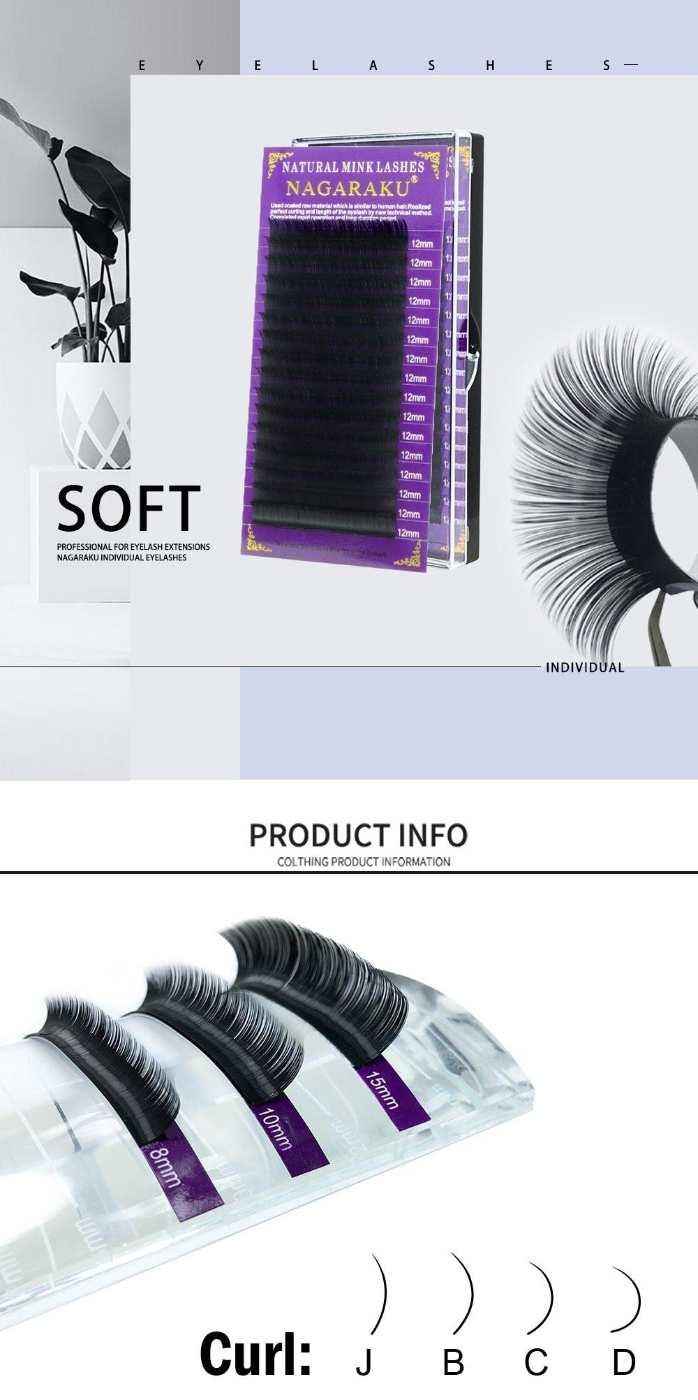 7c15ec02c1f Generic NAGARAKU 10 cases/lot High quality mink eyelash extension ...