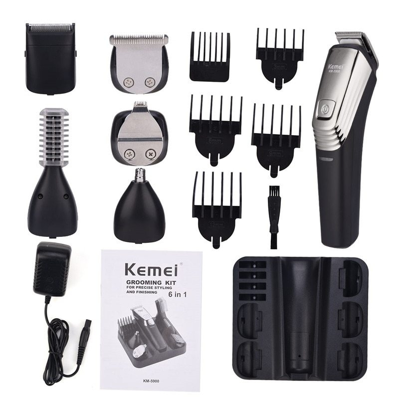 Generic Kemei Professional Hair Trimmer 6 In 1 Hair Clipper