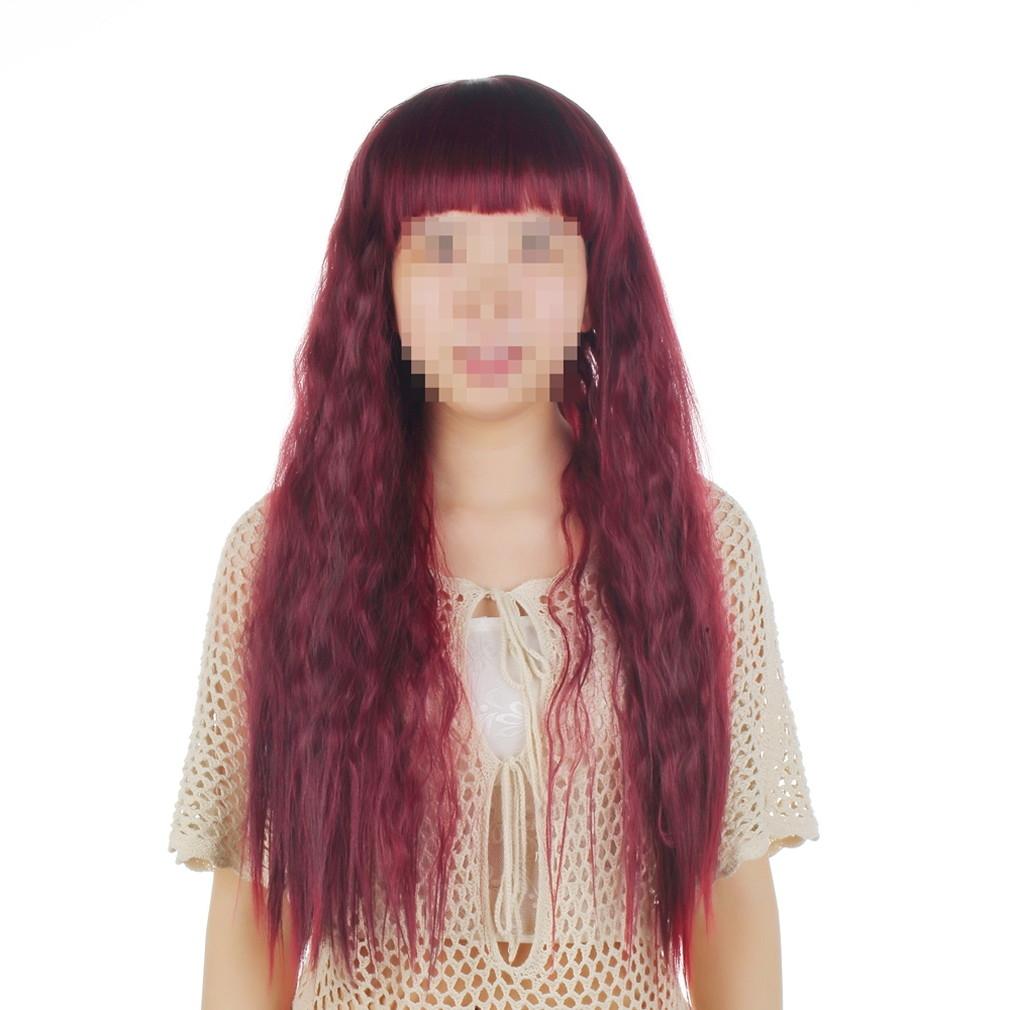 Buy Allwin Womens Lady Long Curly Wavy Hair Full Wigs