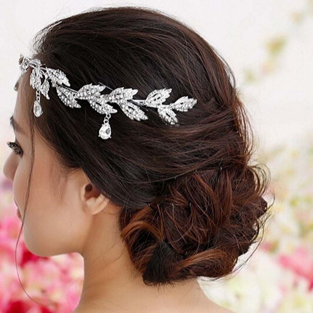 allwin elegant bridal rhinestone crystal prom hair chain forehead