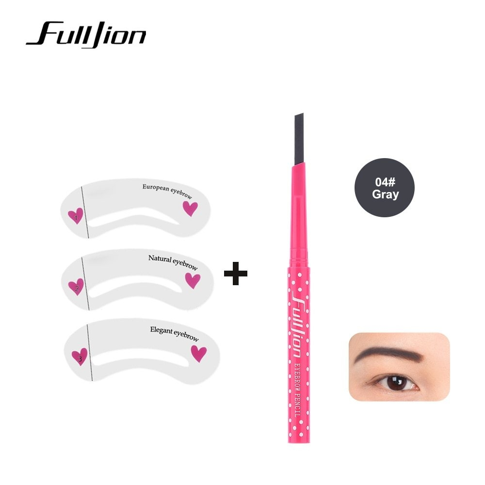 Generic new Waterproof Eyebrow Pencil With Eye Brow Card Tool Lady
