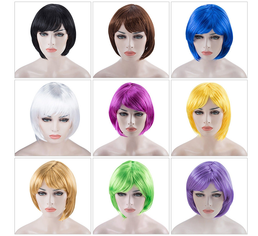 Women Short Bob Wigs Fancy Dress Cosplay Party