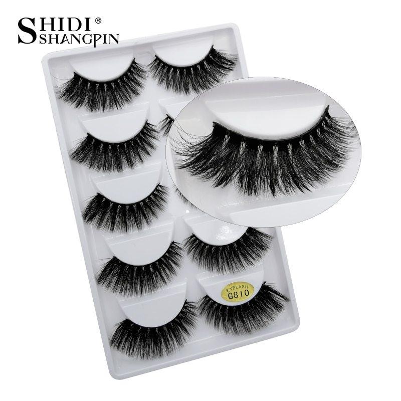49c32d4d90b Generic SHIDISHANGPIN 5 pairs eyelashes natural long 3d mink lashes hand  made soft mink eyelashes full strip lashes makeup false eyelash(G809)