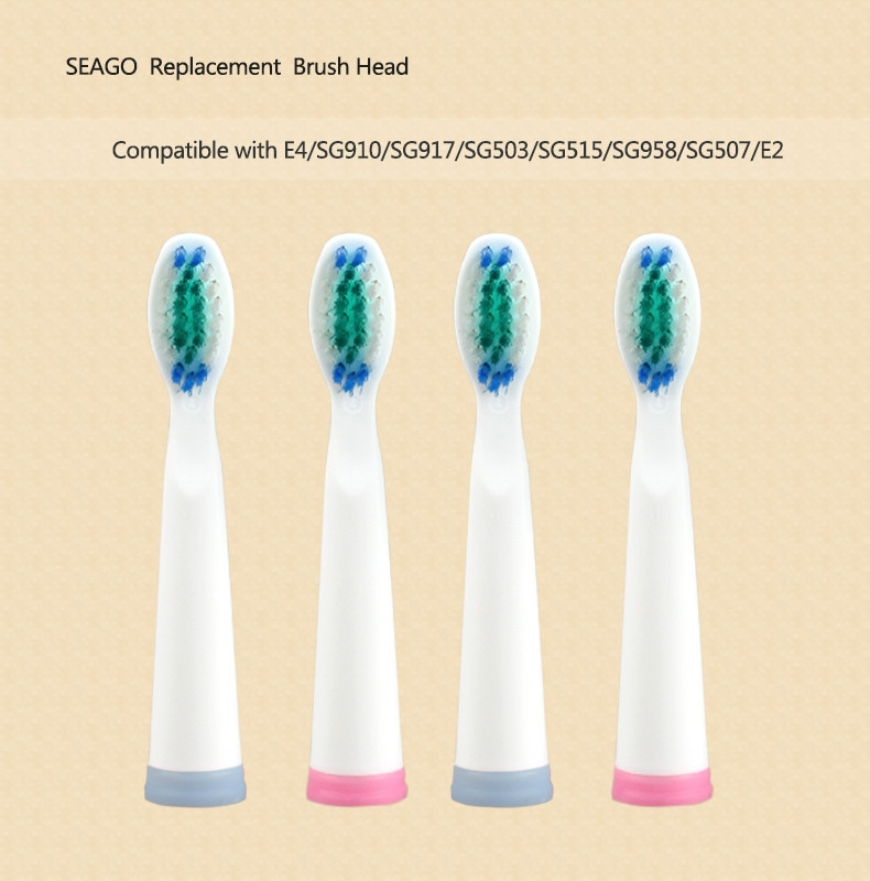 Generic 4pcs/lot Electric Toothbrush Head for E4/SG958/SG515