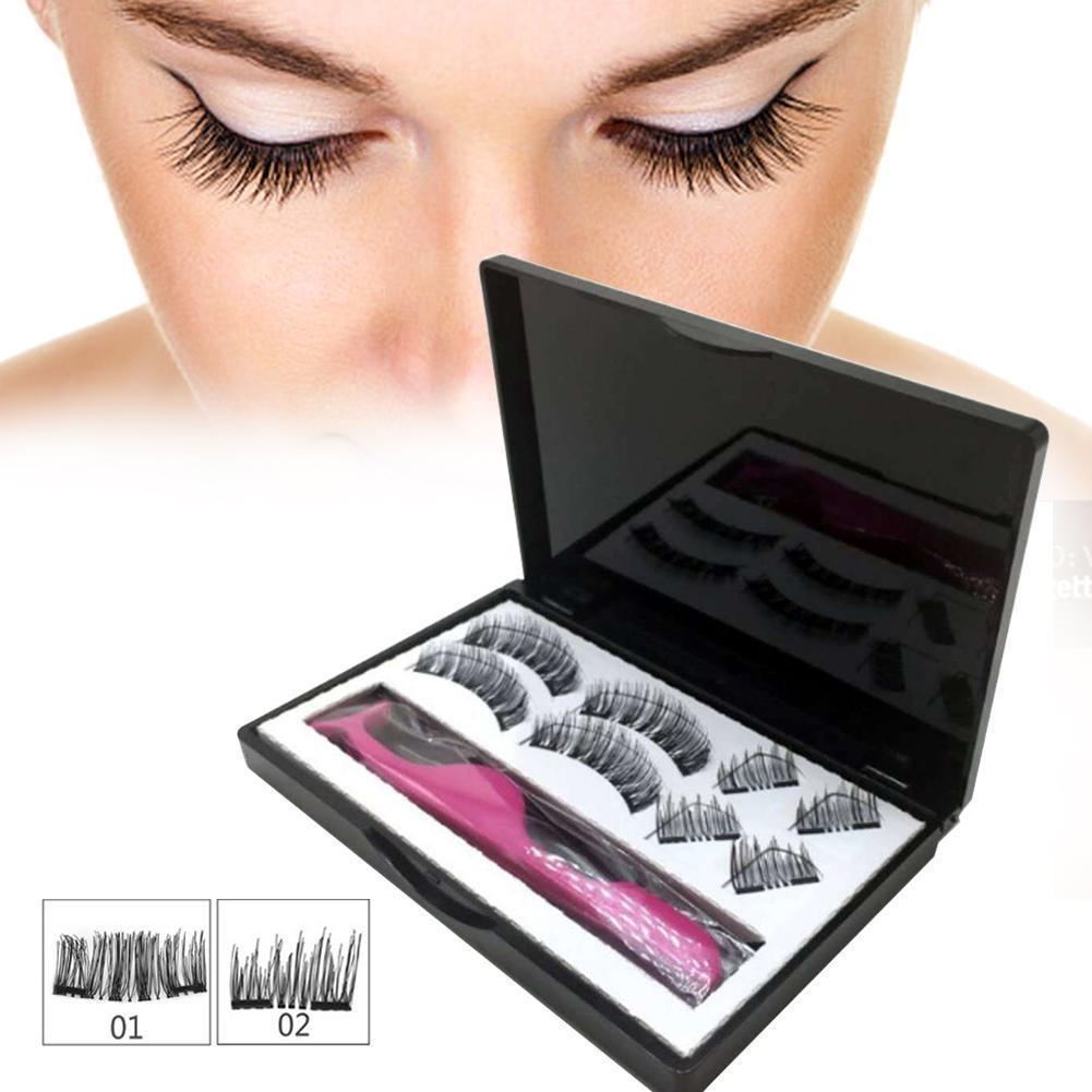 61d6d9d40182 Generic 8PCS/Set 3D False Eyelashes Double Magnetic Lashes Pure ...