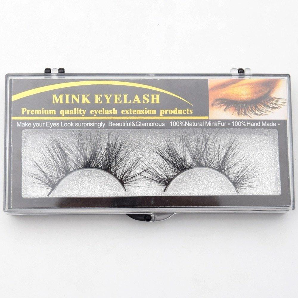 Generic 25mm Lashes Mink Eyelashes 3D Mink Strip Eyelashes Long