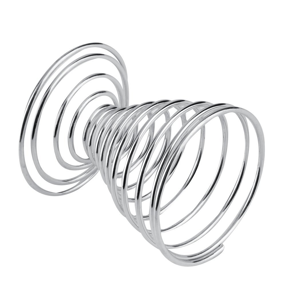 Generic Home-Stainless Steel Spiral Spring Wire Tray Boiled Egg Cups ...