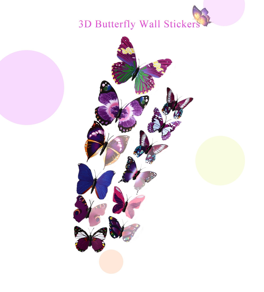 3d Butterfly Wall Decor Generic Diy 12pcs 3d Butterfly Wall Decor Stickers For Living Room