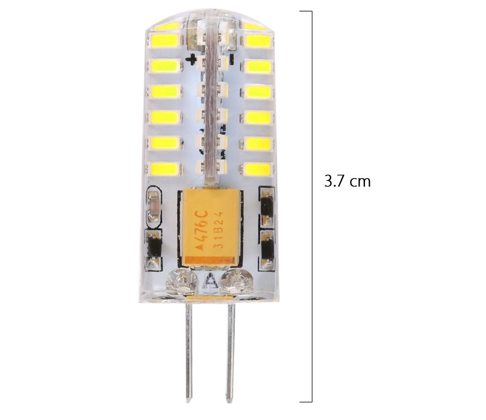 Lightme 10PCS G4 DC 12V 2.5W SMD 3014 LED Bulb Spotlight with 48 LEDs