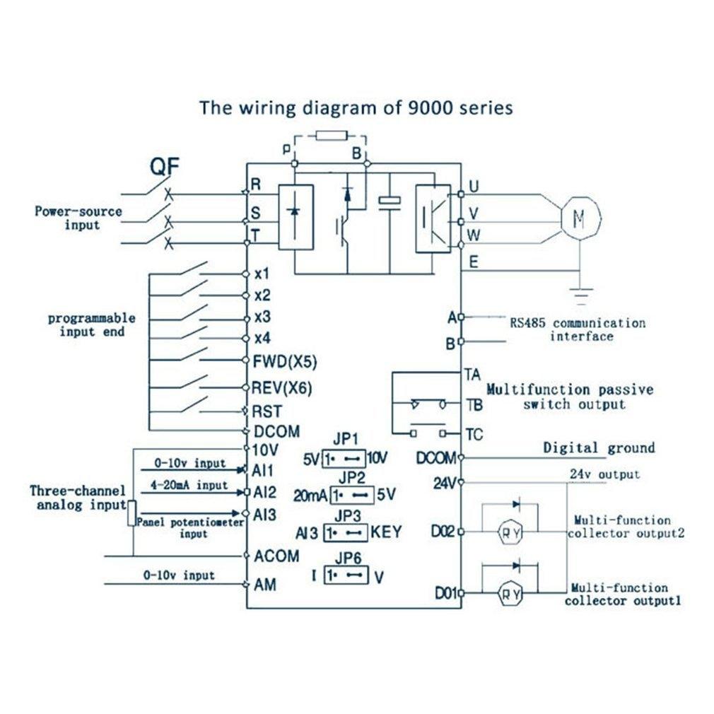 Buy Generic Ta Mini 075kw G 220v Single Phase Frequency Converter Power Ke Wiring Diagram Image