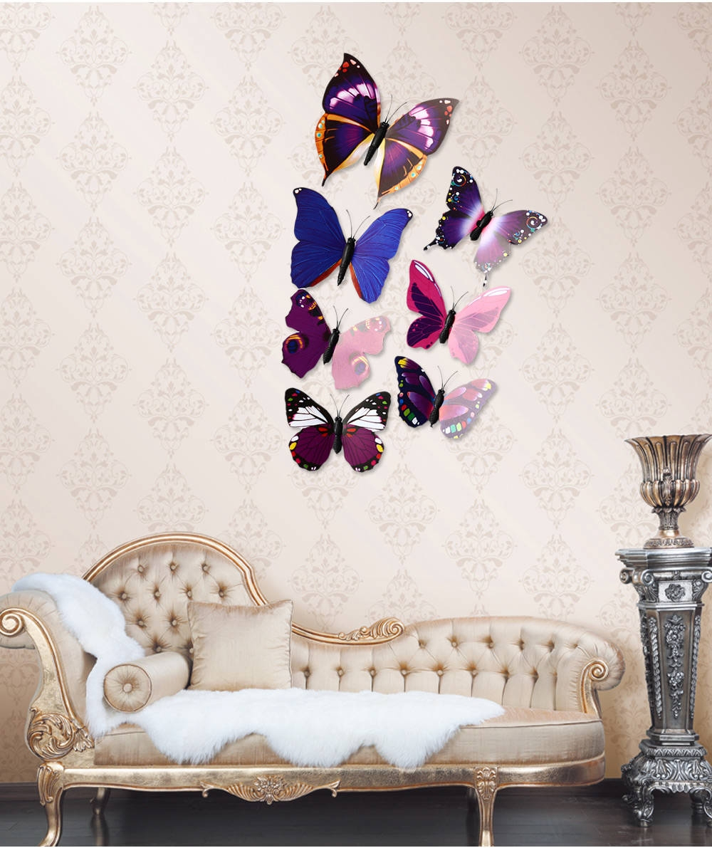 Generic diy 12pcs 3d butterfly wall decor stickers for for Room decor 3d foam stickers