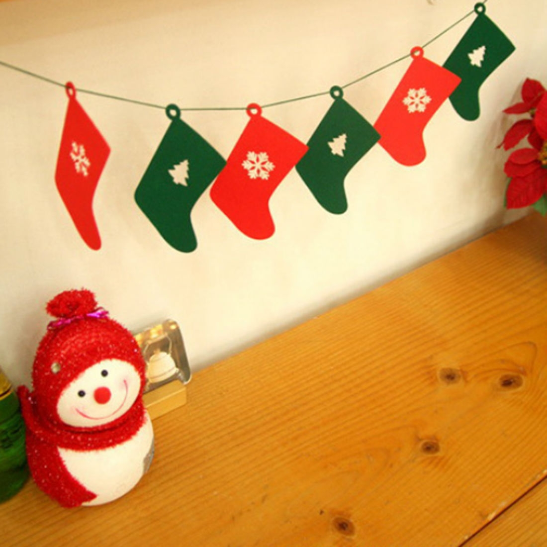 Buy Generic Christmas Bunting Banner Party Xmas Wall Tree Hanging ...