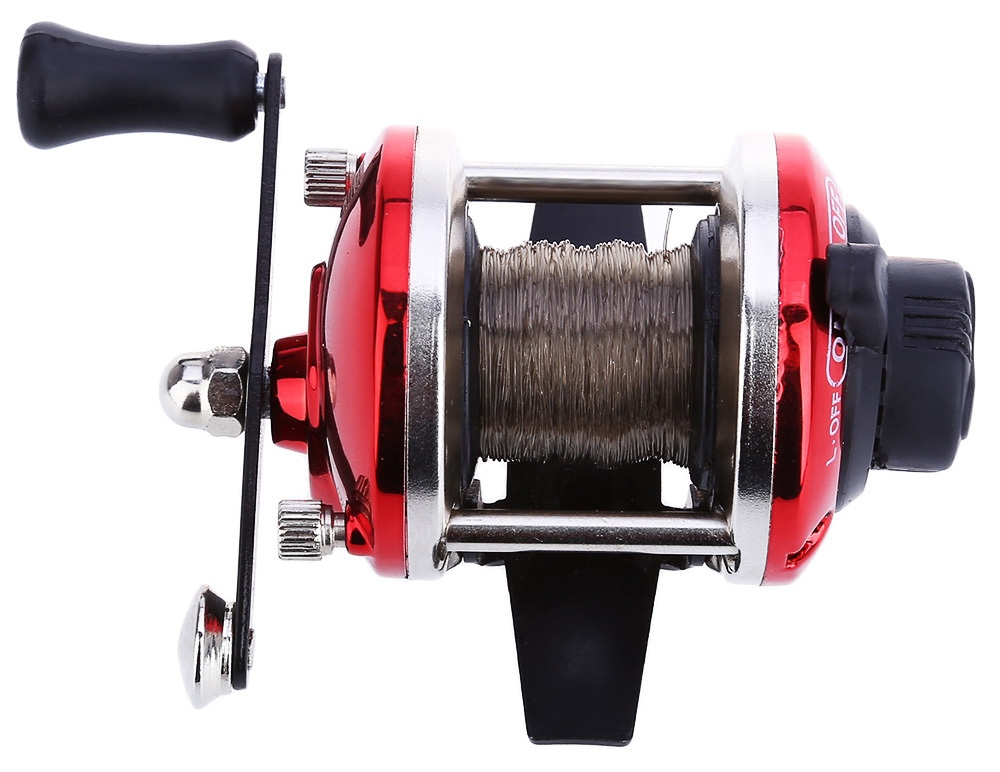 Mini Right Hand Casting Fishing Reel Sea River Ocean Boat Gear with 0.2mm 50m Line
