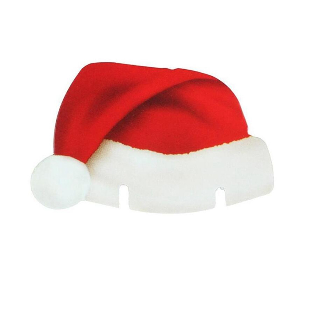 10pcs Christmas Decorations Table Place Cards Christmas Santa Hat Wine Glass