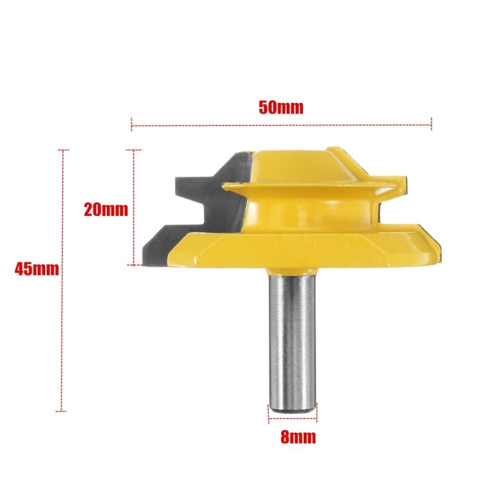 Generic 1Pcs 8mm Shank Small Lock Miter Router Bit - 45° - 3