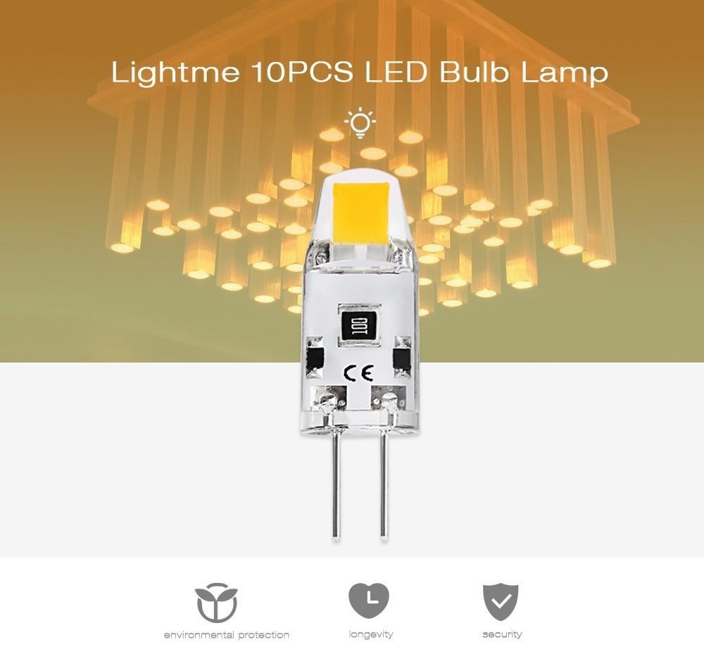 Lightme 10PCS G4 1.2W DC 12V 1505 LED Dimmable Bulb Spotlight