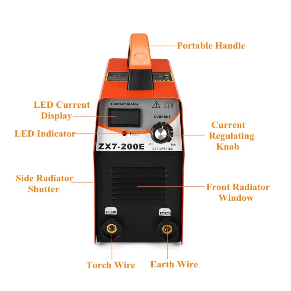 Buy Generic Inverter Welder Orange 110 220v Us Plug Best Price Welding Circuit Diagram The Output Characteristics Are Similar To Those Of Ac Which Makes Arc Strong And Favorable High Maximum Voltage Long Length