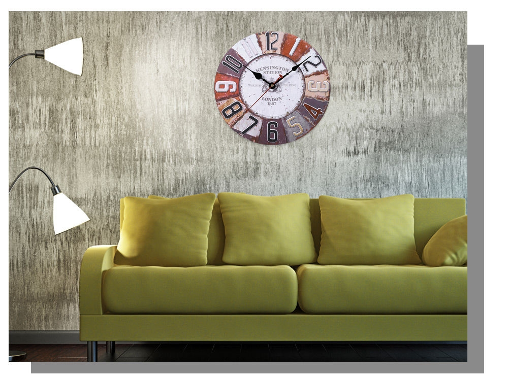 Generic wooden wall clock digits retro style home for Home decorations on jumia