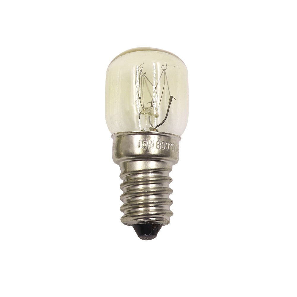 Oven Light Bulb E14 15W High Temperature 300 Degree Yellow Toaster Tungsten Filament Bulb
