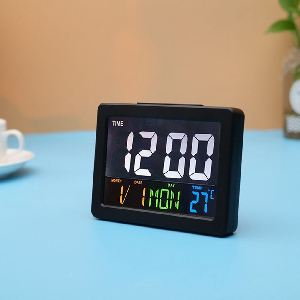 Generic LED Clock Desktop Table Digital Clock Modern Design Large
