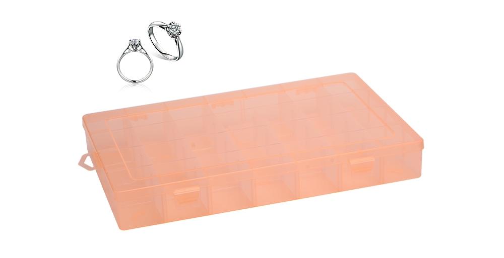 24cd92188 Detachable 28 Compartments Transparent Plastic Jewelry Bead Storage Box
