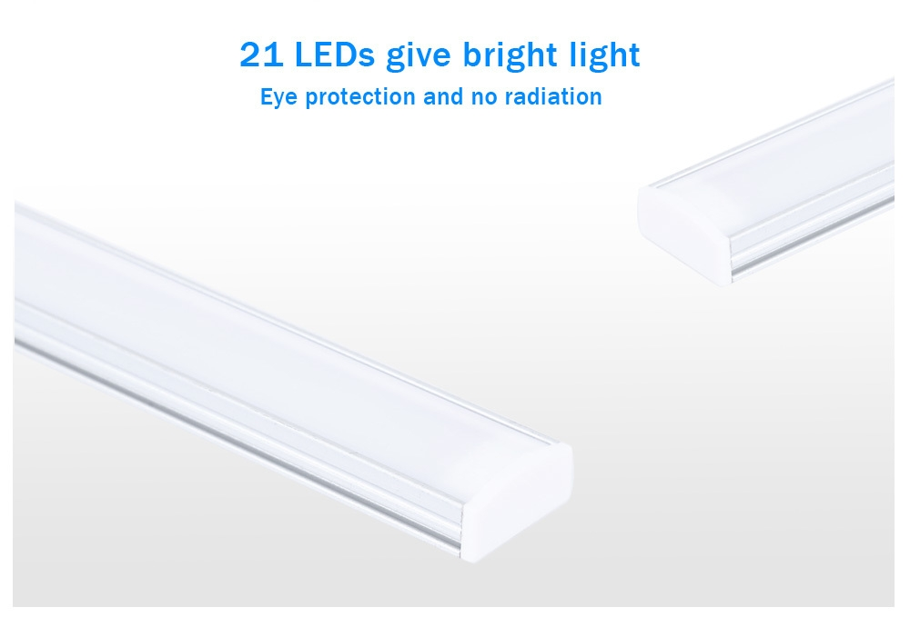 USB Powered DC 5V 6W 21 LEDs Night Light Eye-protection Touch Control Dimmable Closet Cabinet Lamp